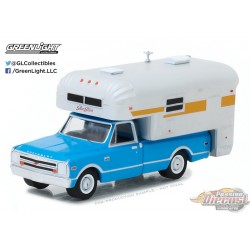 1/64 1968 Chevy C10 Cheyenne avec Camper (Hobby Exclusive) GL-29922 GREENLIGHT PASSION DIECAST
