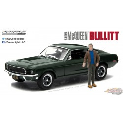 1/43 Hollywood - Bullitt (1968) - 1968 Ford Mustang GT Fastback avec Steve McQueen Figurine GL-86433 greenlight passion diecast