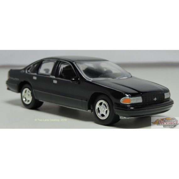 1/64 1996 Chevy Impala SS Noir  JLSP006A johnny lightning passion diecast