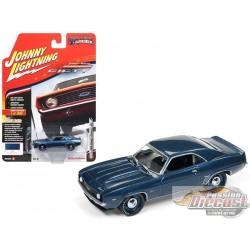 1/64 1969 Chevrolet Camaro ZL1 50TH BLEU JLSP003B JOHNNY LIGHTNING PASSION DIECAST