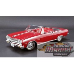 1/18 1965 Chevrolet Malibu Chevelle SS Z16 Convertible Rouge A18005306 ACME PASSION DIECAST