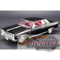 1/18 1965 Chevrolet Malibu Chevelle SS Z16 Convertible Noir A1805301 acme passion diecast