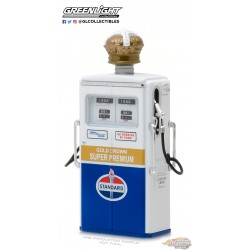 1/18 1954 Tokheim 350 Twin Gas Pump Standard Oil Gold Crown Super Premium GL-14040C greenlight passion diecast