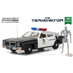 1/18 The Terminator (1984) - 1977 Dodge Monaco Metropolitan Police   GL-19042 greenlight passion diecast
