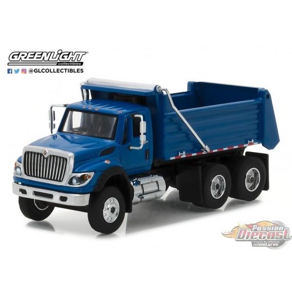 1/64 SD Trucks 3 -  2017 International WorkStar Construction Dump Truck - BlEU GL-45030A GREENLIGHT PASSION DIECAST