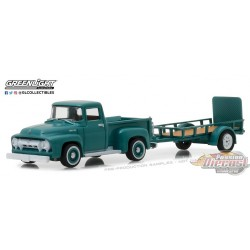 1/64  1954 Ford F-100 w Utility Trailer GL-32130A greenlight passion diecast