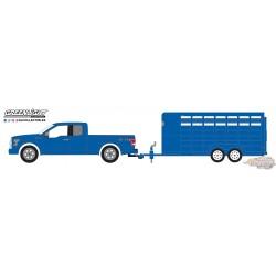 1/64   2016 Ford F-150 w Livestock Trailer 2016 Ford F-150 w Livestock Trailer GL-32140C greenlight passion diecast