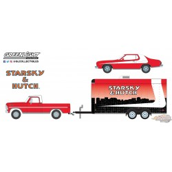 1/64 Starsky and Hutch 1972 Ford F-100 with 1976 Ford Gran Torino in Enclosed Car Hauler gl-31060A Greenlight Passion diecast