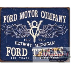 Ford Trucks - 100 Years     TIN SIGN Ford Trucks - 100 Years  desperate DES-2245 Passion diecast