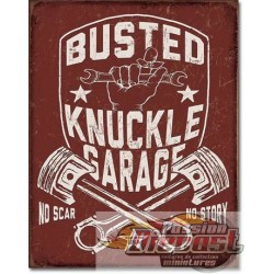 Busted Knuckle Shield  TIN SIGN Busted Knuckle Shield DES-2247  Passion diecast   desperate