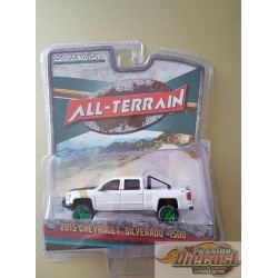 Greenlight 1/64 All-Terrain Series 5 2015 Chevy Silverado Truck,  Green Machine Passiondiecast