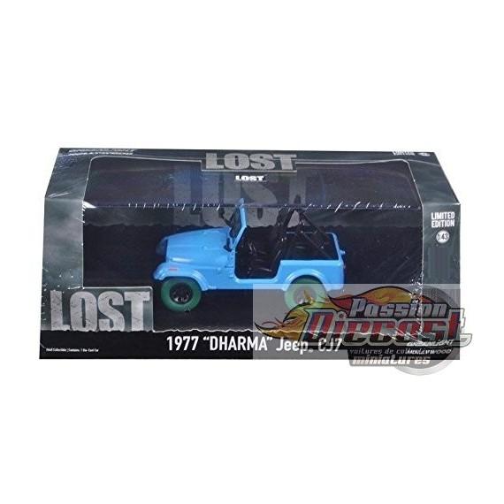 """Greenlight 1/43 Lost (TV Series,) - Jeep CJ-7 """"Dharma"""" Green Machine Passion diecast"""