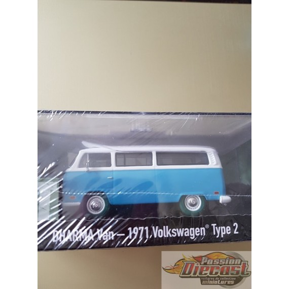 "Greenlight 1/43 Lost - 1971 Volkswagen Type 2 ""Dharma"" Van Green Machine Passion diecast"