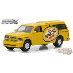 Greenlight  1/64  - Running on Empty 5  2014 Ram 1500 with Camper Shell Pennzoil Not just oil Pennzoil GL-41050F PassionDiecast