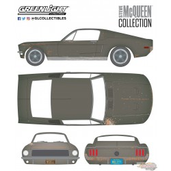 1:64 Greenlight Steve McQueen Collection 1968 Ford Mustang GT GL-44722 PASSIONDIECAST  (Hobby Exclusive)