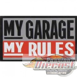 Aimant My Garage My Rules HBL-683912 PassionDiecast Open Road