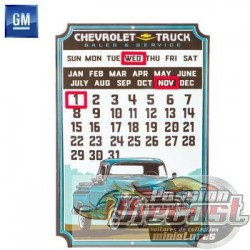 Open Road  HBL-11456573  Chevy Truck Calendar Metal Sign PassionDiecast