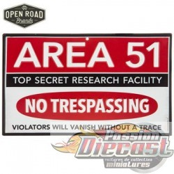 Open Road  HBL-1469329 Area 51 Metal Sign PassionDiecast