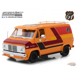 1:18 Highway 61 1976 Chevrolet G-Series Van - Orange HW-18012 Passiondiecast