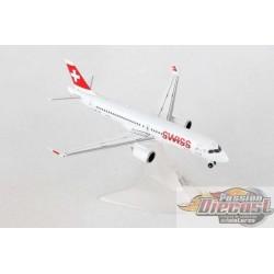 Bombardier CS300 Swiss International  HB-JBA  Herpa Wings  1/400   562614 Passion Diecast