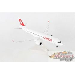 Bombardier CS300 Swiss International  HB-JBA  Herpa Wings  1/200   558952  Passion Diecast