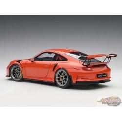 1:18 AUTOART  AA-78168 PORSCHE 911(991) GT3 RS (LAVA ORANGE/Roues Gris Foncé  Passion Diecast