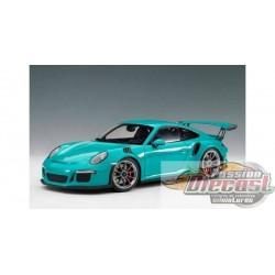1:18 AUTOART  AA 78167 PORSCHE 911(991) GT3 RS (MIAMI BLEu/Roues Gris Foncé )  Passion Diecast
