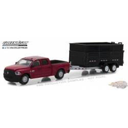1/64 Hitch and Tow series 14 2017 Ram 2500 w Dump Trailer GL-32140D greenlight  passion diecast