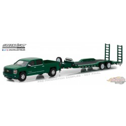 1/64 Hitch and Tow series 14 2015 Chevy Silverado w Trailer GL-32140B greenlight passion diecast
