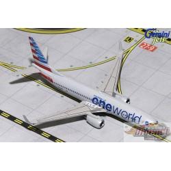 AMERICAN Boeing 737-MAX 8 ONE WORLD Reg  N836NN  Gemini Jets  1/400 GJAAL1734  Passion Diecast