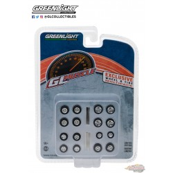 1:64 GL Muscle  Wheel & Tire Pack - 16 Wheels, 16 Tires, 4 Axles (Hobby Exclusive) Gl-13164 Passiondiecast