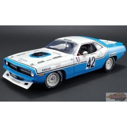 PLYMOUTH HEMI CUDA NO 42 1970 - HENRI CHEMIN  CHRYSLER OF FRANCE ACME 1/18   A1806102  Passion Diecast