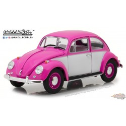 1/18 1967 Volkswagen Beetle conduite à droite - Rose et blanc  Greenlight 13512 Passion Diecast