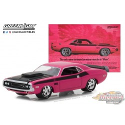 1/64 BFGoodrich Vintage Ad Cars - 1970 Dodge Challenger TA (Hobby Exclusive) Greenlight 29943 Passion DIecast