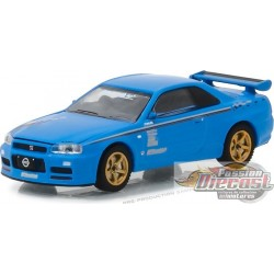 "1/64 BFGoodrich  2001 Nissan Skyline GT-R (R34) ""Track Meat""  (Hobby Exclusive) Greenlight 29944 Passion Diecast"