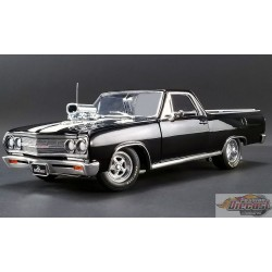 DRAG OUTLAWS 1965 CHEVROLET EL CAMINO NOIR  ACME  A1805409 Passion Diecast