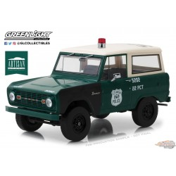 1/18 1966 Ford  Bronco NYPD Greenlight 19036 Passion Diecast