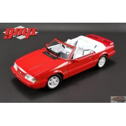 1/18 Ford Mustang LX Convertible 1992 - Rouge vibrant avec intérieur blanc Ford Feature Edition GMP 18822 Passion Diecasf