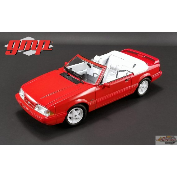 1/18 1992 Ford Mustang LX Convertible - Vibrant Red with White Interior Ford Feature Edition GMP 18822 Passion Diecast