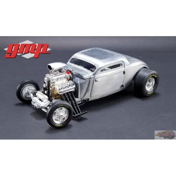 1/18 1934 Blown Altered Coupe - Raw Steel GMP-18880 Passion Diecast