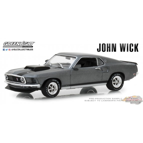 Greenlight 1/43 1969 Ford Mustang BOSS 429 John Wick (2014)  GL-86540 PASSION DIECAST