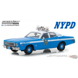 1975 Plymouth Fury - NYPD  Greenlight 1/43   86535  Passion DIecast