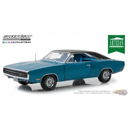 1/18  1970 Dodge Charger RT SE - Bleu  Greenlight Artisan 13530 Passion Diecast