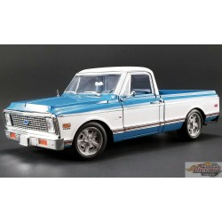 1/18 1971 CHEVROLET C10 CUSTOM Blue And White   ACME  A1807209 Passion Diecast