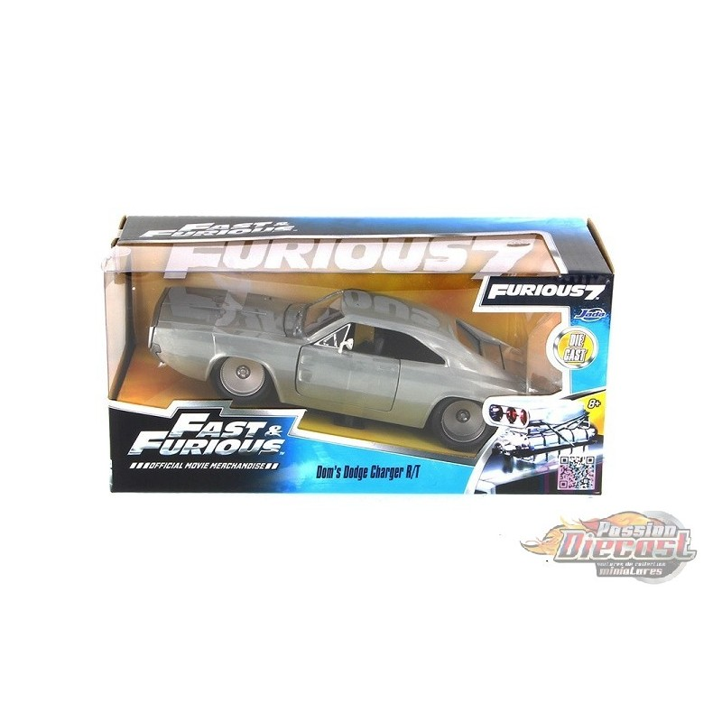 1970 Dodge Charger R//T Bare Metal Fast /& Furious Dom 1:24 Jada Toys 97336 RT