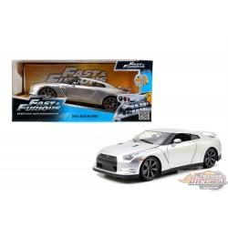 1/24 F&F 7    BRIAN  -NISSAN  GT-R R35 2009 SILVER 97212 Jada Passion diecast