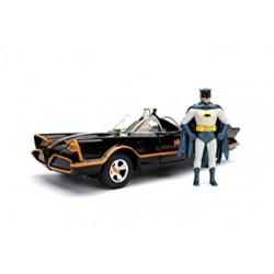 1966 Batmobile Batman et Robin dans la voiture Batman Série TV classique (1966) 1/24 Jada 98259