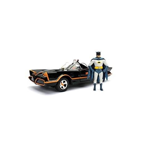 1966 Batmobile Batman et Robin dans la voiture Batman Série TV classique (1966) 1/24 Jada 98259 Passion Diecast