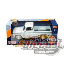 1966 Chevrolet C-10 Fleetside Pickup  Bleu clair   Gulf  Motormax 1/24 79648 Passion Diecast