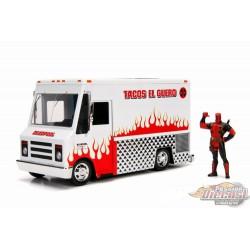 Taco Truck Avec  Deadpool figurine ,   Jada 1/24 99730 Passopn Diecast